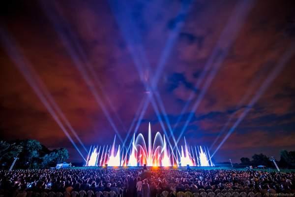 Open Air Festival Vents d'Est 2021 mit einer kunstvollen Wassershow von Aquatique Show International