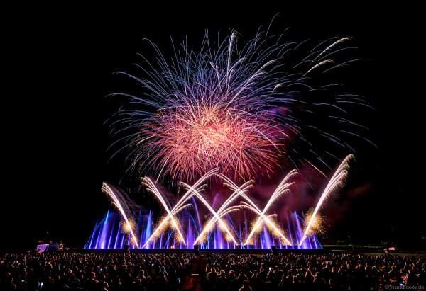 Open Air Festival Vents d'Est 2021 mit Wassershow, Laser und Feuerwerk in Furdenheim bei Straßburg