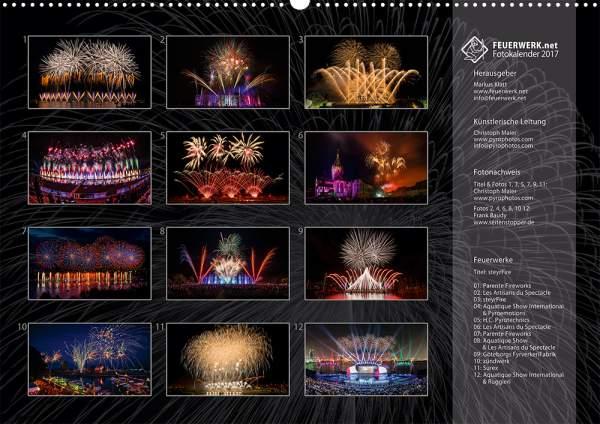 Feuerwerk-Fotokalender 2017 Index 14