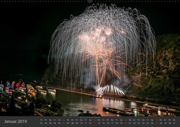 Feuerwerk Fotokalender 2018 - Januar