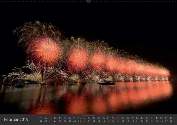 Feuerwerk Fotokalender 2018 - Februar