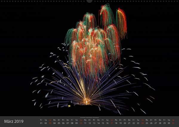 Feuerwerk Fotokalender 2018 - Maerz