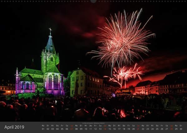 Feuerwerk Fotokalender 2018 - April