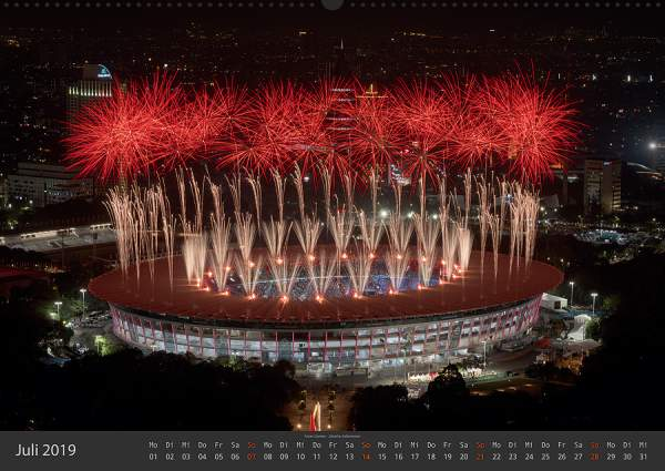 Feuerwerk Fotokalender 2018 - Juli