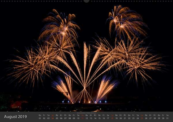 Feuerwerk Fotokalender 2018 - August