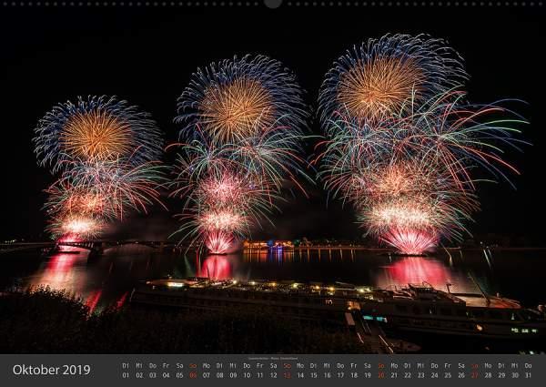 Feuerwerk Fotokalender 2018 - Oktober