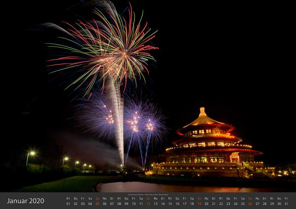 Feuerwerk Fotokalender 2020 - Januar