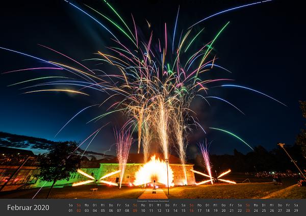 Feuerwerk Fotokalender 2020 - Februar