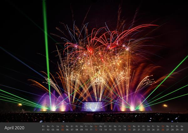 Feuerwerk Fotokalender 2020 - April