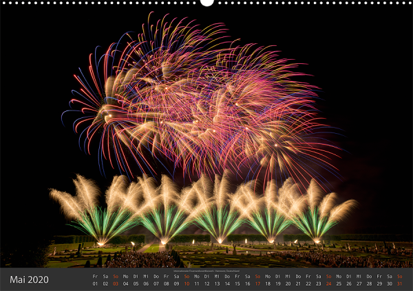 Feuerwerk Fotokalender 2020 - Mai