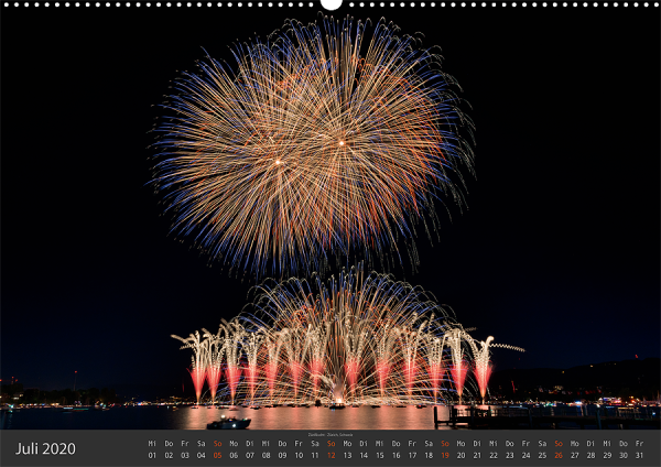 Feuerwerk Fotokalender 2020 - Juli