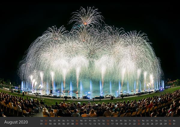 Feuerwerk Fotokalender 2020 - August