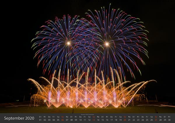Feuerwerk Fotokalender 2020 - September