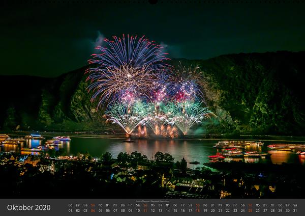 Feuerwerk Fotokalender 2020 - Oktober
